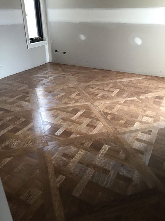 Essendon North Solid French Oak Versailles Parquetry